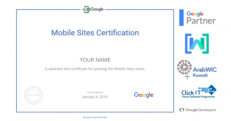 Mobile Sites certification by Google